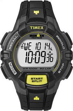 7450e364867c Timex Mens Ironman Triathlon 30 lap Chronograph Watch T5K790