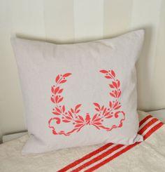 Christmas Pillow - Using a royal Design Stencil!