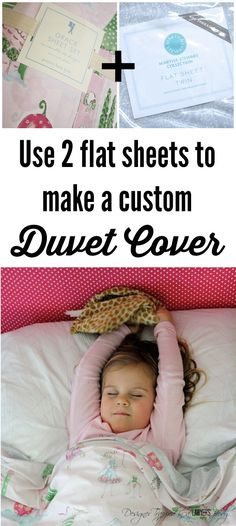 THIS IS BRILLIANT! Learn to make a DIY duvet cover using 2 flat sheets. It's so easy with this tutorial from Designer Trapped in a Lawyer's Body.