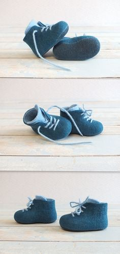 Felted boots for baby. #babyboy #babyclothes #boots #etsylithuania