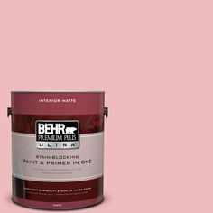 BEHR Premium Plus Ultra 1 gal. #P160-2 Blush Rush Matte Interior Paint