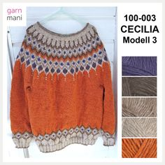 Cecilia is knitted in Lettlopi - designed by Tove Richter for Garnmani, the pattern or knitting kit for sale at www.no in norwegian or english. Ravelry, Tanks, Crochet Top, Beige, Knitting, Sweaters, Pattern, English, Women