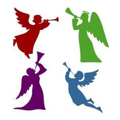 Primitive Flying Angel with Trumpet Stencil Crafts