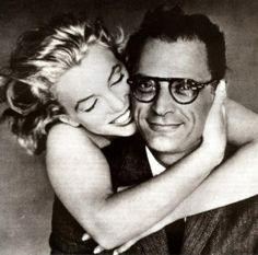"""""""It's often just enough to be with someone. I don't need to touch them. Not even talk. A feeling passes between you both. You're not alone."""" ~Marilyn Monroe    Pic of Marilyn Monroe & Arthur Miller by Richard Avedon"""