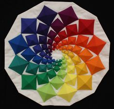 Colour Swirl by Patricia Butron. 1st place miniature quilt. 2013 Canberra Quilters show (Australia).