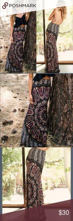 Long boho style skirt maxi Beautiful pattern boho style skirt                                          ✔️price firm (besides bundles) 🚫 trades Skirts Maxi