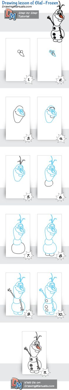 Draw Olaf with our easy step-by-step drawing tutorial. And also, we have many different drawing lessons for Drawing Projects, Drawing Lessons, Art Lessons, Easy Disney Drawings, Easy Drawings, Drawing For Kids, Art For Kids, Disney Drawing Tutorial, Animal Drawings