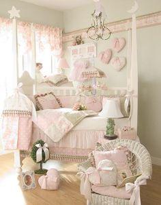 Dormitorios de bebe estilo Shabby Chic