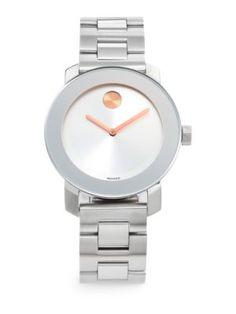Movado - Bold Stainless Steel Bracelet Watch/25MM - Saks.com