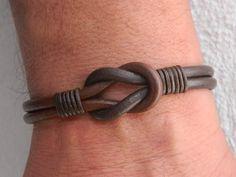 Mens infinity bracelet womens bracelet womens infinity womens leather bracelet mens knot bracelet boyfriend gift girlfriend bracelet