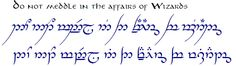 The Hobbit, The Lord of the Rings, and Tolkien - The One Ring • View topic - Official Tengwar Transcription Thread (and TATTOOS) - IV