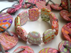 Vitaminas by Madreselva61 - 2-hole polymer clay bracelet beads