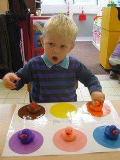 Eendjes sorteren op kleur