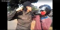 Pakai Pin PKI 'Palu Arit' Pemuda Bermotor ditempeleng LSM KPK