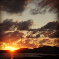 シエスタ前のビーチから夕日⛱