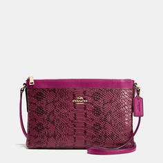 Journal Crossbody in Colorblock Exotic Embossed Leather
