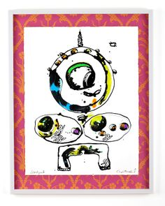 SOMLIGA 1 Bläck, akvarell och pastell på papper och tapet Cajsa Fredlund, cajfre@gmail.com