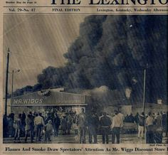 Mr Wiggs catches on fire.probably early Smoke Drawing, My Old Kentucky Home, Old Pictures, Vintage Photos, History, Childhood Memories, Buildings, Fire, Bright