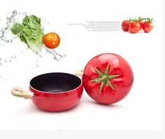 2016 Hot Vegetables Modeling Non Stick Pot Lovely Style Tomato Pot Cookware Kitchen Cooking Pot Soup