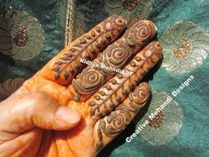 YouTube fingers henna mehndi design