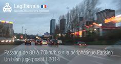 passage de 80 à 70km/h bilan positif à paris www.legipermis.com