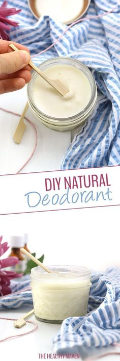 A simple DIY Natural Deodorant recipe that smells amazing and works too! Made with clean, all-natural ingredients and ready in under 10 minutes, this natural deodorant will quickly become a staple in your body routine.