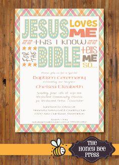 Baptism Invitation Idea