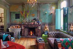 Van der Hilst restoration of an Antwerp 15th Century house (eclectic & colorful. mk)