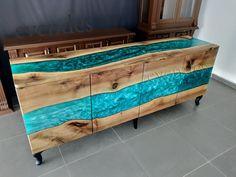 Epoxy Resin Table, Epoxy Resin Art, Wood Resin, Resin Furniture, Furniture Projects, Furniture Design, Wooden Furniture, Walnut Wood, Wood Slab