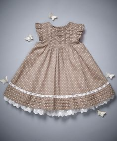Spot Frill Dress - Welcome to the World - View All - Mamas & PapasLarge image of Spot Frill Dress - Welcome to the World - opens in a new windowOur diapason baby girls dresses has one particular thing to fit every toddler, it doesn't matter if she's Frocks For Girls, Kids Frocks, Little Girl Outfits, Little Girl Fashion, Toddler Girl Dresses, Little Girl Dresses, Kids Outfits, Kids Fashion, Girls Dresses