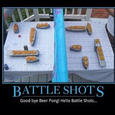 You drank my battleship! Seems like a fun party game... of course I would do it without liquor and it would still be awesome!!