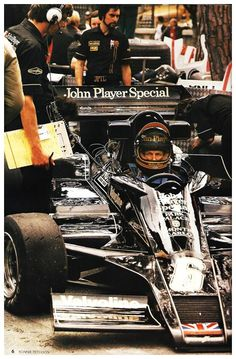 Lotus F1 John Player Special almost could have sold me on smokes the black and gold paint scheme