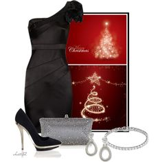 Diamonds for Christmas, created by christa72 on Polyvore