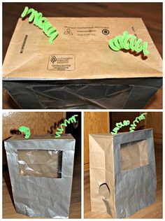 {Think Outside the Toy Box} Summer Fun Series Paper Bags DIY: Astronaut/Alien Costume, kids play, kids crafts, Upcycling paper bags, toddler summer time activities, reusing household items, imaginative and pretend play