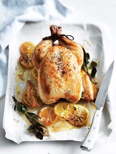 brined roast chicken