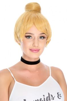 Change up your Halloween look this year with this wig! Featuring; bangs, top knot. 100% Synthetic Fiber