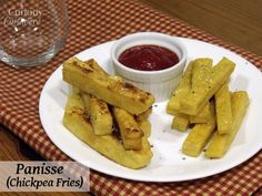 Panisse - Chickpea Fries from Curious Cuisiniere #SundaySupper