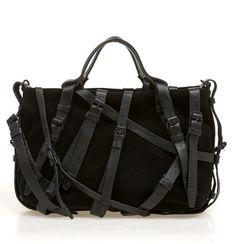 fffd7455542a Black Belt Handbag   Sheinside Black Leather Bags