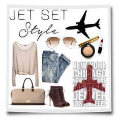 A fashion look from September 2015 featuring knit shirt, blue ripped jeans and brown heeled boots. Browse and shop related looks. Jet Set, Travel Bag, Traveling By Yourself, Style Me, Classy, Style Inspiration, Shoe Bag, Stylish, Colors