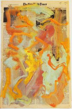 art-Walk — Willem de Kooning Painting on newspaper Willem De Kooning, De Kooning Paintings, Picasso Paintings, Abstract Paintings, Art Paintings, Tachisme, Action Painting, Jackson Pollock, Contemporary Abstract Art