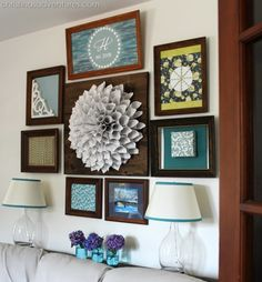 make a bold conversation piece for the middle of your frame display