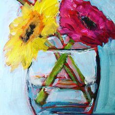 Denise Alloca, abstract florals Denisealloca.blogspot.com