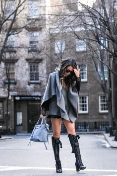 Silver Riding Hood :: Cape jacket & Lace-Up Boot