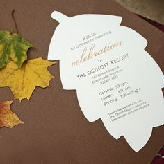 FALLING IN LOVE Fall Leaves Wedding Invitation or Save The Date ...