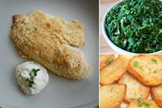 Salt and Vinegar Fingerling Potato Coins Parmesan-Crusted Tilapia with ...