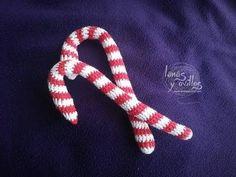 Tutorial Caramelo Navidad Candy Cane Crochet o Ganchillo Paso a Paso en Español - YouTube