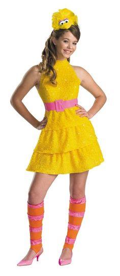Girls Tween Big Bird Halloween Costume XL 14-16 Teen Sesame Street Dress Cute #Disguise #CompleteCostume