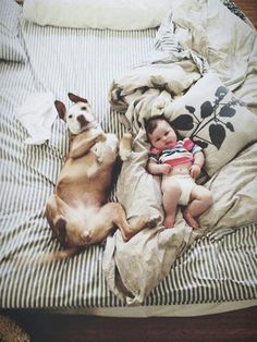 Baby and dog, adorable!!
