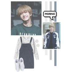Chae Hyungwon by lazy-alien on Polyvore featuring moda, Monki, adidas Originals, monstax, hyungwon and ChaeHyungwon