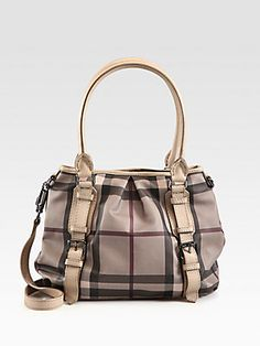 Burberry Smoke Check & Leather Northfield Bag$1195.00